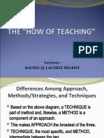 How of Teaching