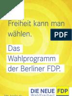 Wahlprogramm FDP Berlin 2011