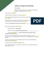 Nicollet Emergency Action Planning Activities 2010-11