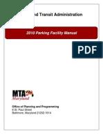 2010 MTA Parking Facilities Manual