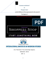 Shoppers' Stop Project Report