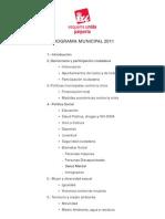 Programa Municipal Paiporta 2011