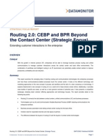 Data Monitor - Routing 2.0 - CEBP and BPR Beyond the Contact Center - June 2009