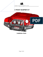 AEV Bumper Installation Instructions