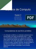 Computadoras portátiles y de escritorio