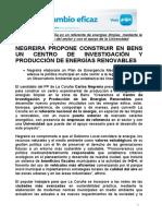 18-05-11 np pp propuestas ENERGÍAS LIMPIAS