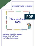 PLANO DE CURSO - LÍNGUA PORTUGUESA