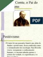 AUGUSTO COMTE-POSITIVISMO