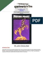 37892773 Montauk Project by Preston B Nichols