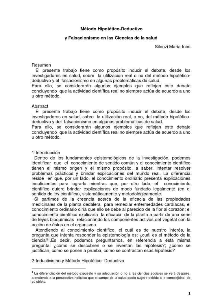 metodo hipotetico deductivo caracteristicas y ejemplos