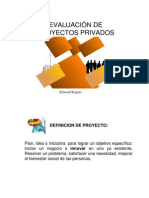 EVALUACIÓN DE PROYECTOS PRIVADOS