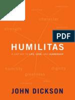 Humilitas by John Dickson, Excerpt