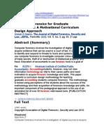 Computer Forensics for Graduate Accountants