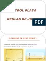 Resumen Comentado Reglas Futbol Playa