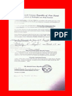Certificate of Birthrights and Holy Covenant