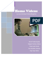 Homo Videns, La Sociedad Teledirigida