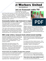Comcast Workers United Newsletter May 2011