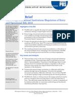 Legislative Brief - Foreign Education Bill