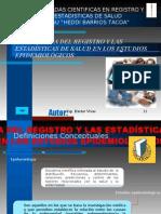 Import an CIA de Los Resgistros de Salud en Los Estudios Epidemiologicos