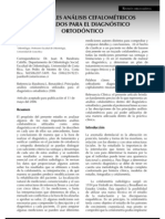 Principales Analisis Cefalometricos - Diagnostico Ortodontico