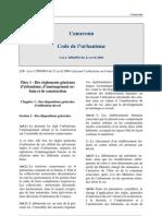 Cameroun - Code Urbanisme