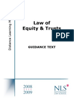NTU_Equity & Trusts Law Guidance Text 2008-2009