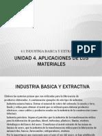 Unidad 4 Aplicaciones de Los Materiales