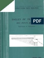 Dalles de Transition Des Ponts Routes