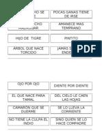 DINAMICA DE REFRANES