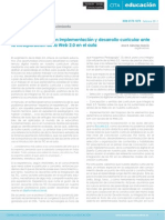 EL DOCENTE-EXPERTO EN IMPLEMENTACIÓN Y DESARROLLO CURRICULAR  ANTE LA INCORPORACIÓN DE LA WEB 2.0 EN EL AULA