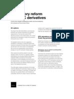 Regulatory Reform and OTC Derivatives