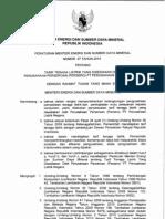 Permen ESDM 07 2010 Tariff Listrik PLN