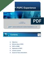 7 PSPC(the 1st PSPC Experience, Korea)
