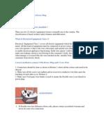 3 Pin Power Plug, 2 Pin Power Plug Safety Tips