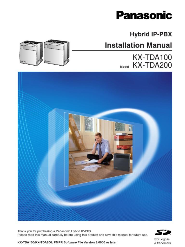tda v3 installation manual ac power plugs and sockets voice over ip rh scribd com kx tda100 programming manual panasonic panasonic kx-tda100 user manual