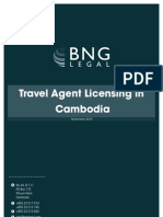Travel Agent Licensing in Cambodia