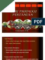 Teori Produksi Pertanian 1