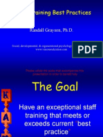 Staff Training Best Practices