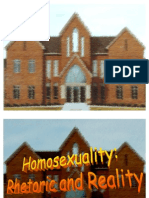 Homosexuality Rhetoric and Reality