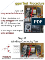 Megger Test Procedure