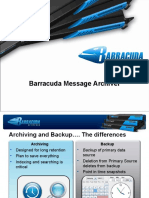 Presentation - Barracuda Message Archiver
