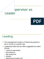 The Supervisor as Leader