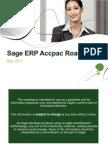 Sage Accpac Roadmap May 2011