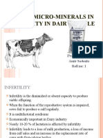 Role of Micro-mineral in infertility in Dairy Cattle