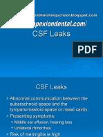 CSF Leaks
