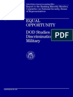EQUAL OPPORTUNITY DOD Studies on Discrimination in the Military