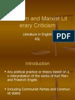 Marxism and Marxist Literary Criticism