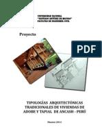 Proyecto Diseño Investigacion viviendas