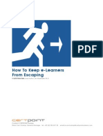 How to Keep E-Learners From Escaping