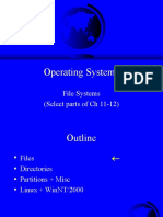 File Systems Directories in Os
